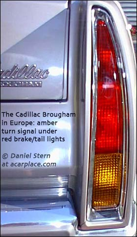 Cadillacs Sold In Europe 1976 And On A Tail Turn Signal