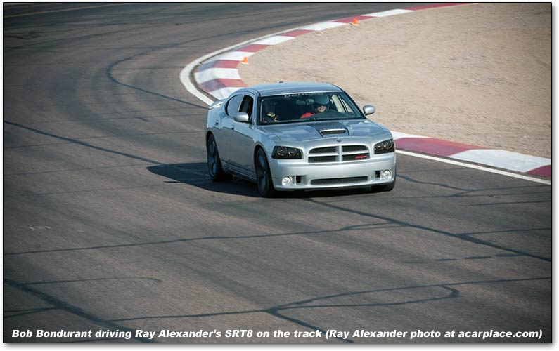 Dodge Charger on the track