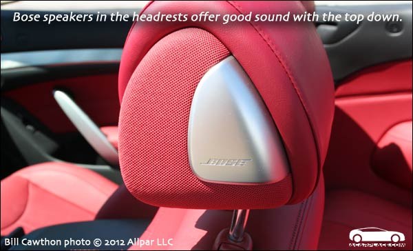 in-headrest speakers