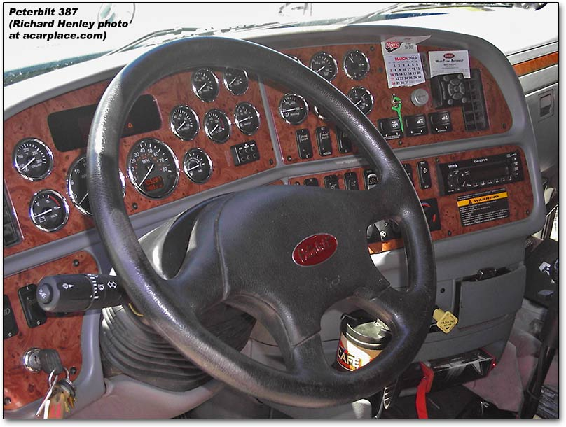 Peterbilt 387 dashboard
