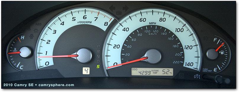speedometer and insturment panel