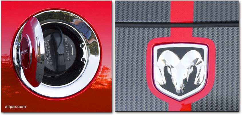 gas cap and stripe