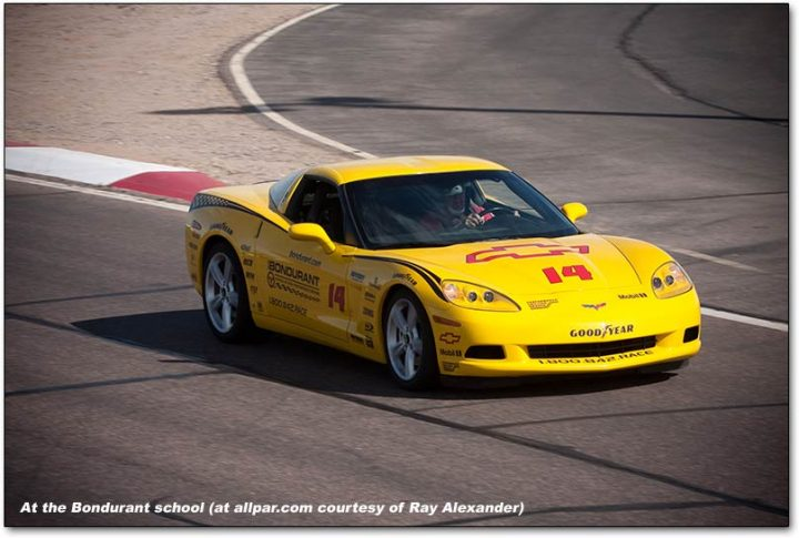 corvette at bondurant driving school