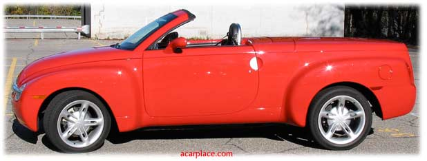 side view, Chevy SSR car reviews