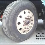 Class 8 truck tires for a Peterbilt 387: Baby needs a new pair of shoes