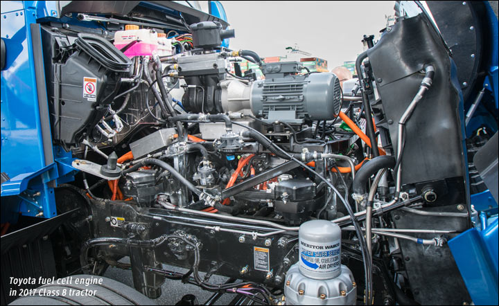 Toyota hydrogen fuel cell engine for trucks