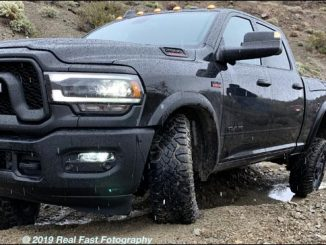2020 Ram 2500 on dirt road